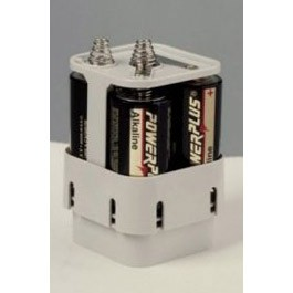6V Battery Holder (White)