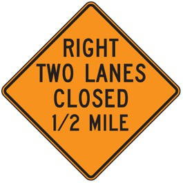 Two Lanes Closed