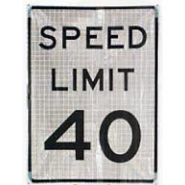 Speed Limit Roll Up Sign